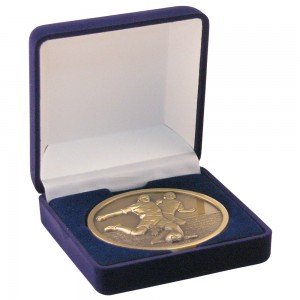 Blue Deluxe Medal Box (50/60/70mm)