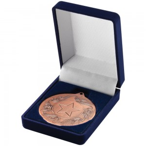 Blue Deluxe Medal Box (40/50mm)