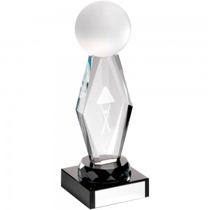 Diamond Pool/Snooker Glass Trophy